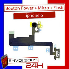 Nappe Bouton Power et Micro Ambiance + Flash pour Apple iPhone 6