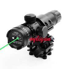 Green Dot Laser Sight Daul Switch With Universal Mount for Rifle Hunting Combo