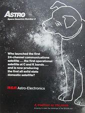 11/1981 PUB RCA ASTRO ELECTRONICS SPACE 2 DOG CHIEN SATELLITE COMMUNICATIONS AD