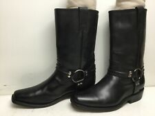 Vtg Mens Mexicanos Harness Motorcycle Black Boots Size 8