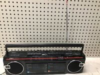 VINTAGE GPX C947 Dual Cassette Portable AM/FM Stereo Radio BOOMBOX GHETTOBLASTER