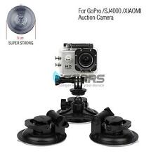 Tri-Angle Suction Cup Mount Super Strong 9CM Car Holder For GoPro Hero 4 3+ 2 1