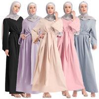 Dubai Abaya Robe Women Muslim Bandage Kaftan Long Dress Islamic Jilbab Arab Gown
