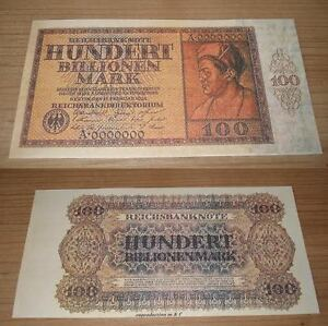 Germany 100 billion Mark 1924 .  UNC - Reproductions