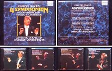 DOHNANYI: BRAHMS Symphony 1 2 3 4 Tragic Overture 4CD Christoph von