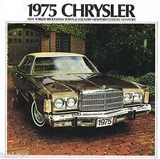 1975 CHRYSLER FOLLETO CON / tabla de colores: New Yorker,NEWPORT,Town & Country,