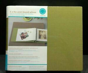 """Martha Stewart 8"""" x 8"""" Photo Album NEW Green Post Bound Photographs Keeper BS"""