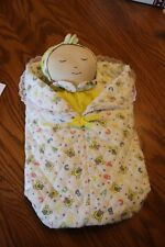 Vtg? Fanny's Playhouse Puppet Plush Sleeping Baby Doll w Blanket ABC Teddy Bear