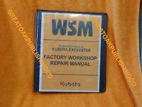 KUBOTA U35-4 EXCAVATOR SERVICE Workshop Service Manual binder