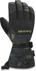 Dakine Leather Scout Snowboard Gloves Mens Large Cascade Camo w/Removable Liners