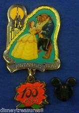 Beauty and the Beast Belle Rose Dangle 100 Years of Magic Le Oc Pin # 8455