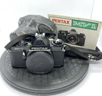 Pentax MV1 35mm SLR Film Camera Black Body - with Case - GREAT CONDITION