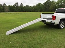 8' GRIP TAPE WHEELCHAIR FOLDING PORTABLE ALUMINUM RAMP:handicap van 9 threshold