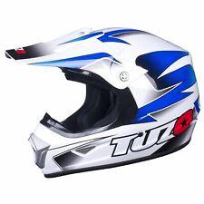 Tuzo MX Motorcycle Motorcross ECE Approved XP-7 Kids Helmet - Blue