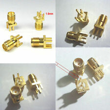 Gold SMA female jack solder PCB clip edge mount #L RF adapter connector CHIP180B