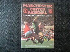 Arsenal Football FA Cup Fixture Programmes (1980s)