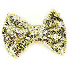 Sequins Bow Hair Clips Kids Barrette for Costume Party Hair Accessories Cute Hot