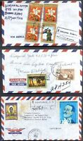 HONDURAS 3 Different Air Mail Covers to ARGENTINA