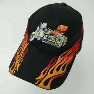 Jagermeister Motorcycle Flames Ball Cap Hat Adjustable Baseball Adult
