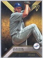 /50 Clayton Kershaw Dodgers 2016 Triple Threads Black Onyx Parallel SP