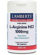 Lamberts L-Arginine HCI 1000mg 90 Tablets