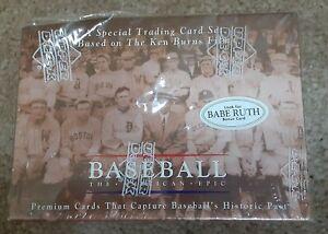 "Ken Burns Baseball The American Epic Trading Card Set ""Sealed"" 1994 Upper Deck"