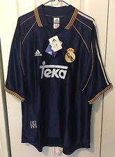 REAL MADRID SPAIN LA LIGA 1998-1999 HIERRO THIRD JERSEY SOCCER SHIRT SZ XL BNWT