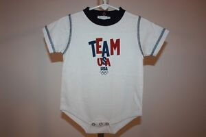 New-Mended- Team USA Olympics Infants 12 Months (12M) Cute White Bodysuit