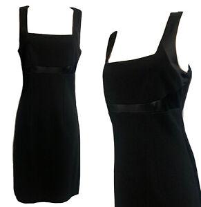 D.EXTERIOR Women's UK 10 IT44 LBD Striking Shift Dress Black Statement Business