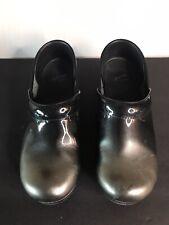 Dansko Dark Gray Shiny  Silver Clog Shoes Size 9 (39)