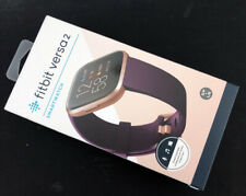 Fitbit Versa 2 Health and Fitness Smartwatch Bordeaux / Copper Rose Aluminum NEW