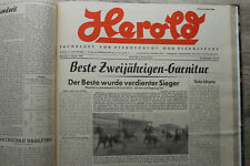 Herold Fachblatt  Pferdezucht Traber Jan-Dez 1955 Pferd Sulky Trabrennen Sport !
