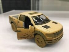 "Kinsmart 5"" Ford F-150 SVT Raptor SuperCrew Muddy Diecast Model Toy 1:46 White"