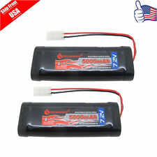 2x 5000mAh 7.2V NiMH rechargeable battery RC battery pack With Tamiya plug USA