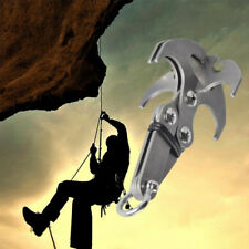 Stainless Steel High Survival Folding Grappling Hook Climbing Claw Carabiner Hot
