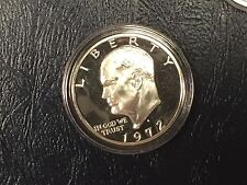 ONE(1) 1972-S 40% SILVER GEM PROOF IKE EISENHOWER DOLLAR PROTECTIVE CAPSULE#%10