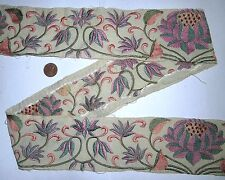 * Vintage Antique Border Sari Trim Lace 3 ft Z1665 Embroidered Off-white #Ac3On