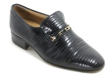Herrenschuhe Lackleder Halbschuhe Schuhe Vintage Riemen Schnalle Dodoni 40
