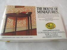 1970's X-Acto Miniatures Doll House Furniture Hepplewhite Side Table #40004 Nip