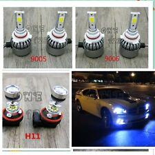 New9005+9006+H11 8000K Ice Blue LED Headlight Bulbs Kit High/Low Beam Fog Light