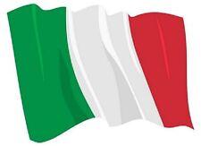 Aufkleber wehende Flagge Italien Fahne wehend 8,5 x 6 cm Autoaufkleber