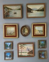 Antique miniature oil paintings signed