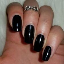 CLASSIC BLACK Shiny Nail Polish 15ml indie 5-free handmade vegan no cruelty