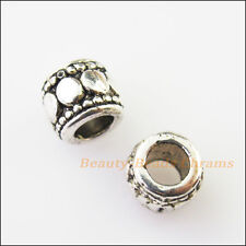 20 Tiny Tube Charms Tibetan Silver Tone Spacer Beads 7mm
