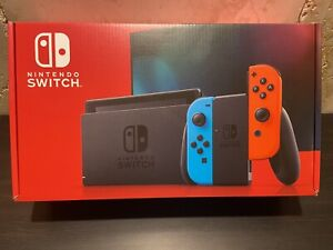 Nintendo Switch HAC-001(-01) Handheld Console - 32GB - Neon Blue/Red Joy-Con...