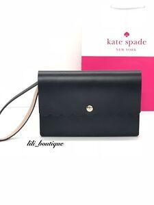 NWT Kate Spade WLRU4808 Bradbury Street Mollie Wristlet Leather Black Rsecld 159