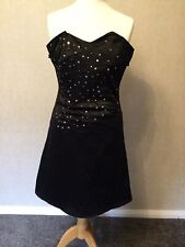 Black Dress Sz 12, by Jane Norman, Off The Shoulder, Diamanté, worn once.