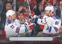 2014-15 SP Authentic Hockey #179 Rick Nash/Derek Stepan Modern Moments