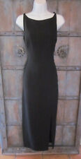 Tahari Classics Womens Long Black Evening Dress Size 10 Formal Gown Slim Sheath