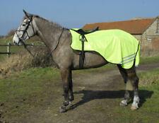 Rhinegold 3/4 Length Cutaway Design Yellow Mesh Horse Pony Ride-On Rug All Sizes